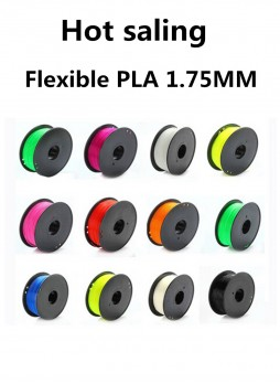 Flexiable PLA 1.75mm  3d printer filament plastic Rubber Consumables Material MakerBot RepRap Mendel 0.8KG /Spool
