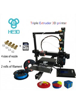 new upgrade 24V pwer supply EI3-Tricolor DIY 3D Printer kit  Triple Extruder-free shipping for some countries