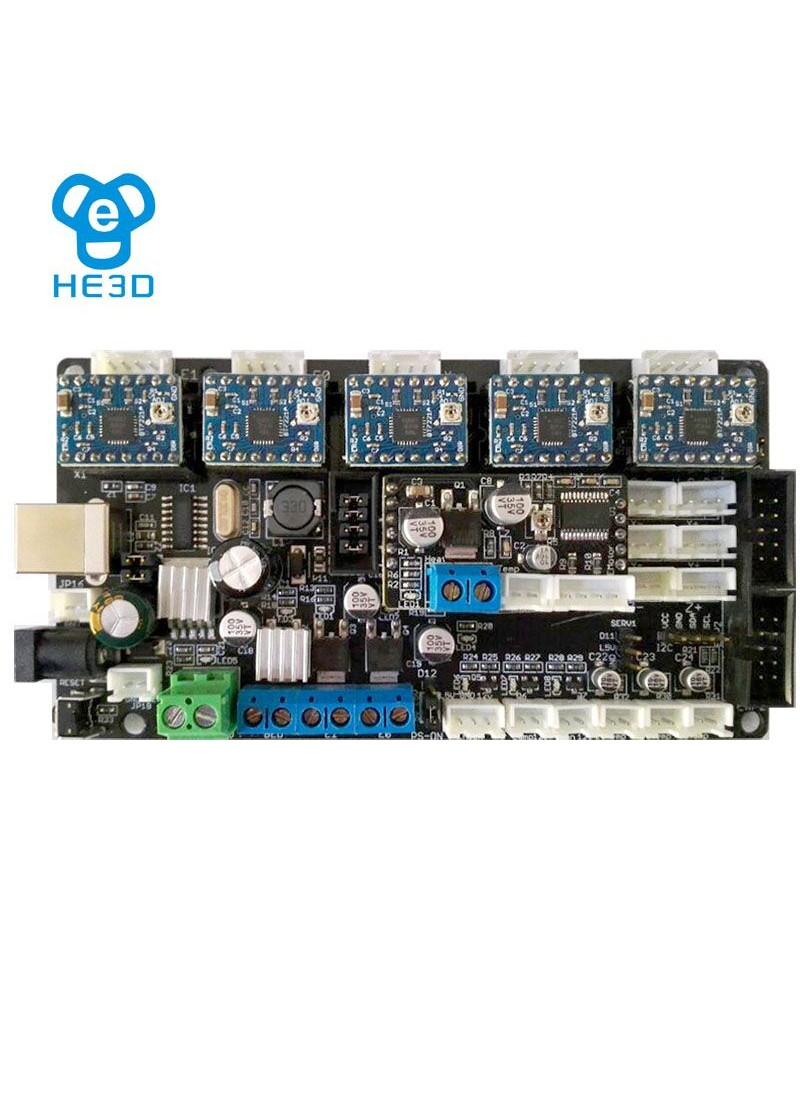 HE3D mainboard for the tricolor 3D printer kit