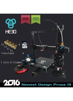 2016 New updated He3D EI3 Aluminium Extrusion DIY 3D Printer kit  3d printing 2 Rolls Filament 8GB SD card as gift,provide 4 sizes of nozzle