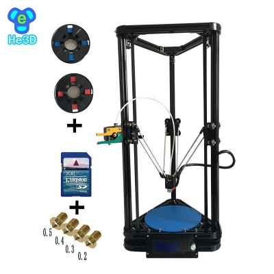 auto level he3d K200 high precision single extruder delta 3d printer kit- support multi material filament-free shiping for some countries
