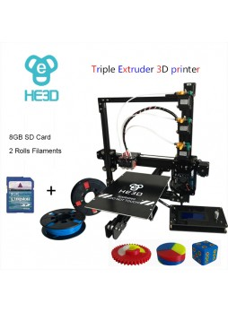 HE3D EI3-Tricolor DIY 3D Printer kit  Triple Extruders