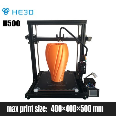 NEWest  HE3D H500 DIY 3D printer supporting UPS   large printing size 400*400*500mm, end stop filament , power off automatically