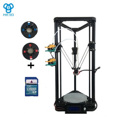 he3d K200 dual extruder high precision delta 3d printer kit