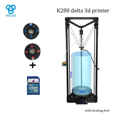 auto leveling HE3D K280 delta 3D printer_ large size  printing size 280 in diameter 600 in height