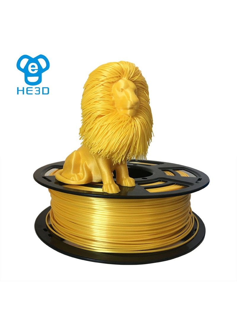 HE3D metal-color PLA filament 1.75mm net weight 1KG