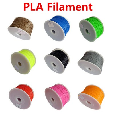 Makerbot/reprap/mendel/UP 3D printer PLA 1.75mm 1kg(2.2lb) filaments multicolor Plastic Consumables Material