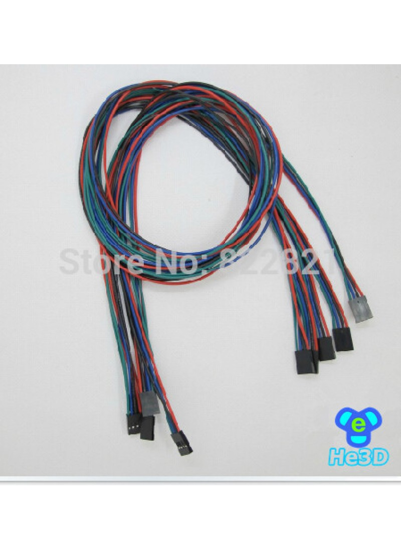 70 cm 4 pin female 5 PCS + 70 cm 2 pin her 5 PCS cable jumper Dupont line delta 3D printer